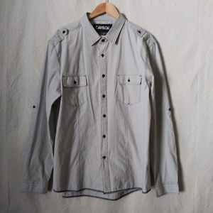 Carbon Gray Casual Button Down